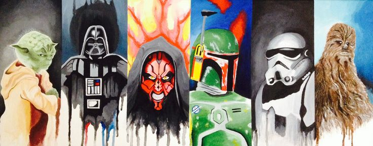 Replica Star Wars painting with acrylic paint