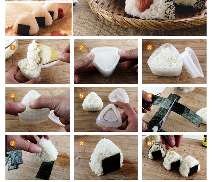 三角型饭团模具2个装 创意DIY饭团便当工具 日韩寿司料理紫菜包饭-淘宝网全球站