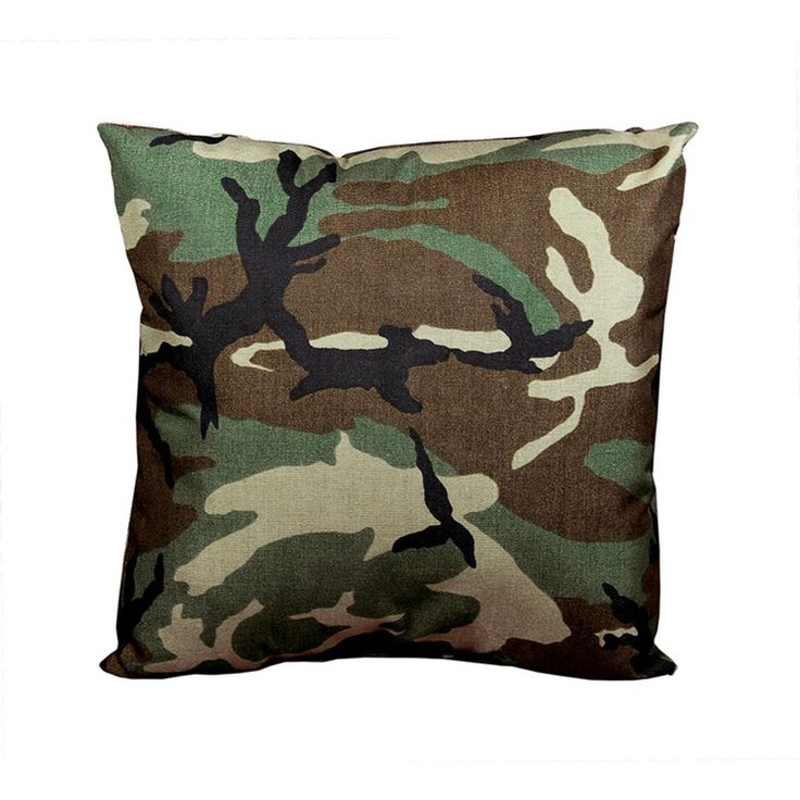 17 Decorative Wicker Furniture Patio Throw Pillow   Woodland Terrace Camo,  Brown, Outdoor Cushion