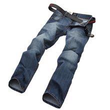 hombres libres del envío pantalones vaqueros de algodón moda de calidad original de una sola marca, de gran tamaño 28-40