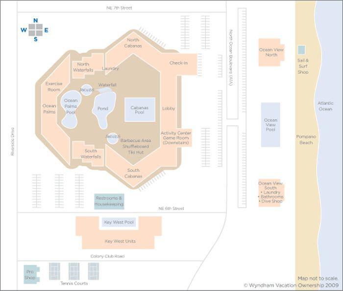 Wyndham Sea Gardens Resort Site Map Vacations