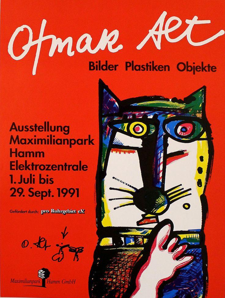 Otmar Alt, Ausstellungsplakat, Original-Zeichnung und -Signatur, 1991, Hamm   eBay