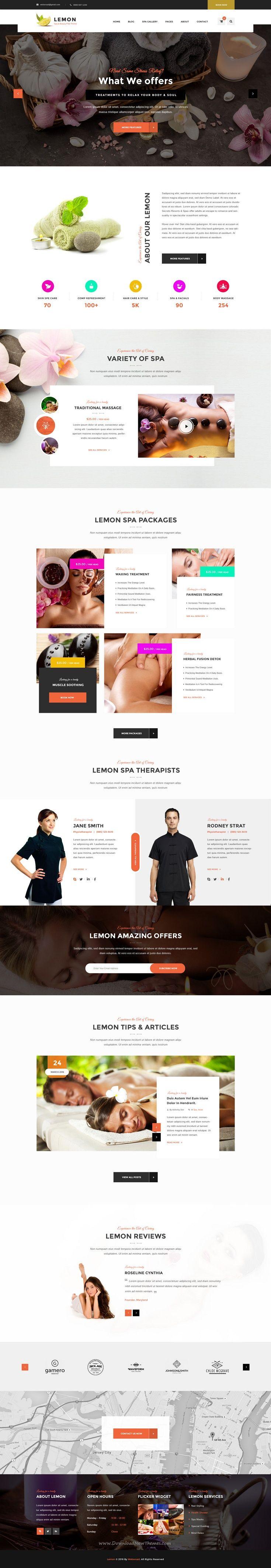 Lemon Spa and Beauty PSD Template