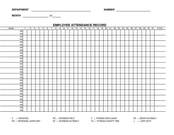 Employee Attendance Planner and Tracker Free Excel Templates - attendance form templates