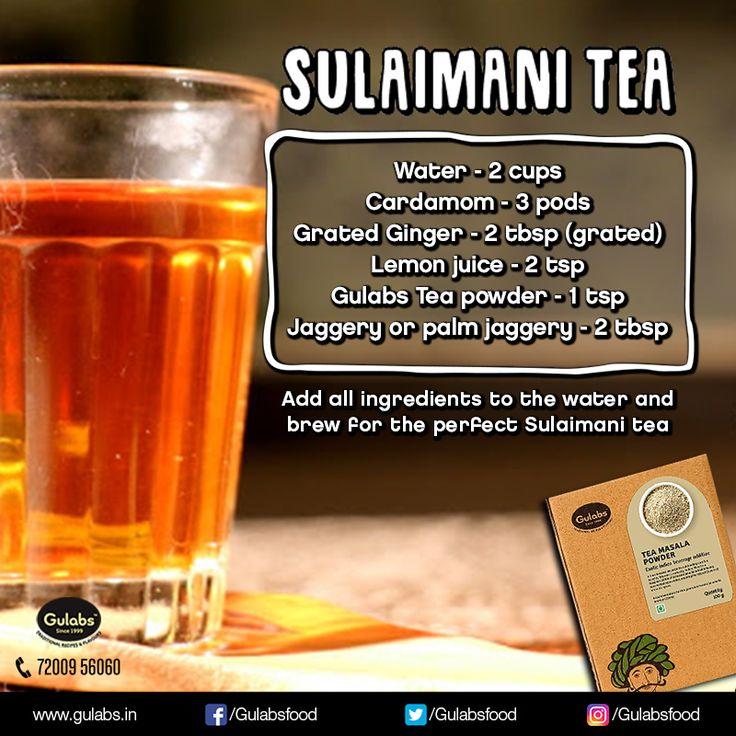 Sulaimani Tea is a popular black tea in Malabar region. Here's a quick recipe of the tea using #Gulabs #TeaMasala !