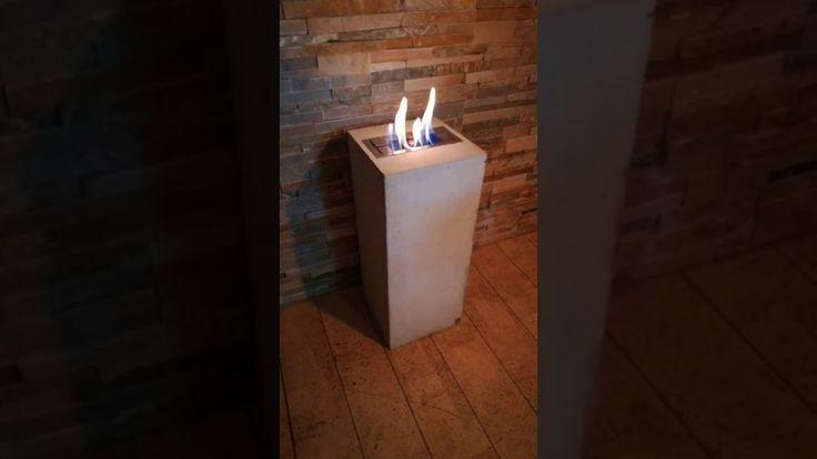 Neu Bei Besigns Beton Designs! Die Besigns Beton Design Feuersäule  Flammensäule Mit Edelstahl Bio