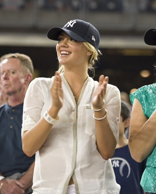 Kate Upton at 'New York Yankees Vs Boston Red Sox' Game in New York on May 31, 2013