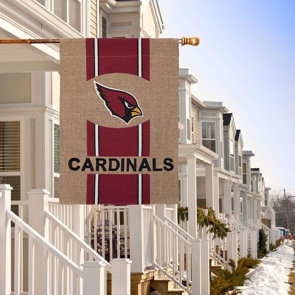Arizona Cardinals Burlap Garden Flag - $14.99