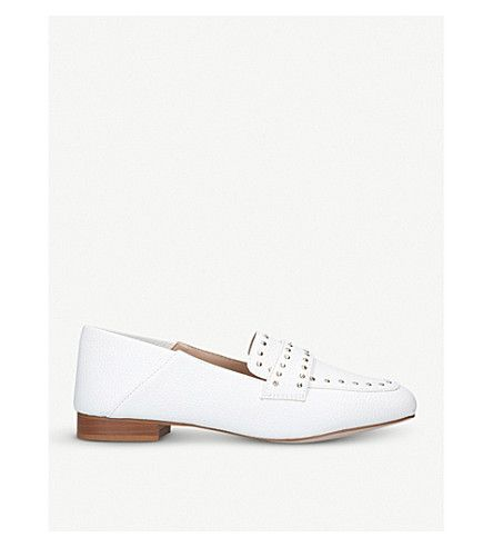 MISS KG | Maize studded loafers #Shoes #Flats #Loafers #MISS KG