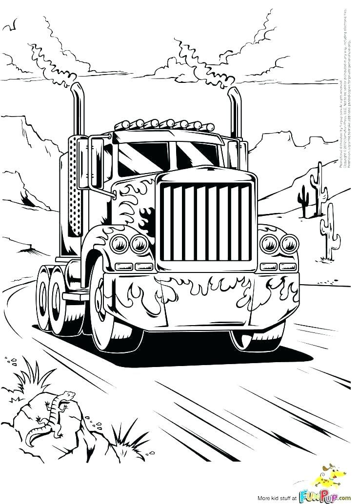 Big Rig Coloring Pages Semi Truck Coloring Sheets Semi Coloring Pages Big Rig Color Pages Truck Transformers Coloring Pages Truck Coloring Pages Coloring Pages