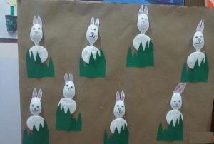 plastic spoon bunny craft idea for kids