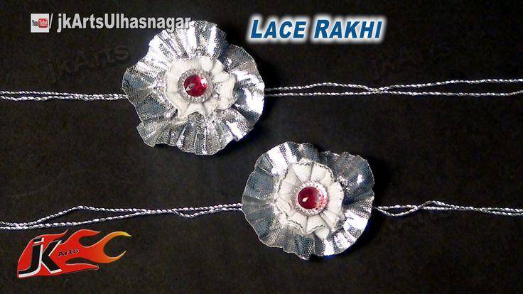 DIY Silver Lace Rakhi for Raksha Bandhan | How to make |  JK Arts 599