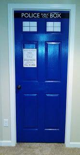 DIY TARDIS Door! - My sister did this!!