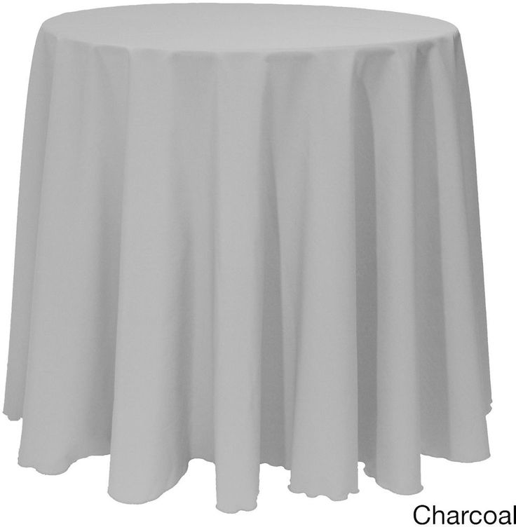 Christmas Solid Round Bright Color Durable Charcoal Tablecloth Decor 90  Inches #Christmas #Charcoal #