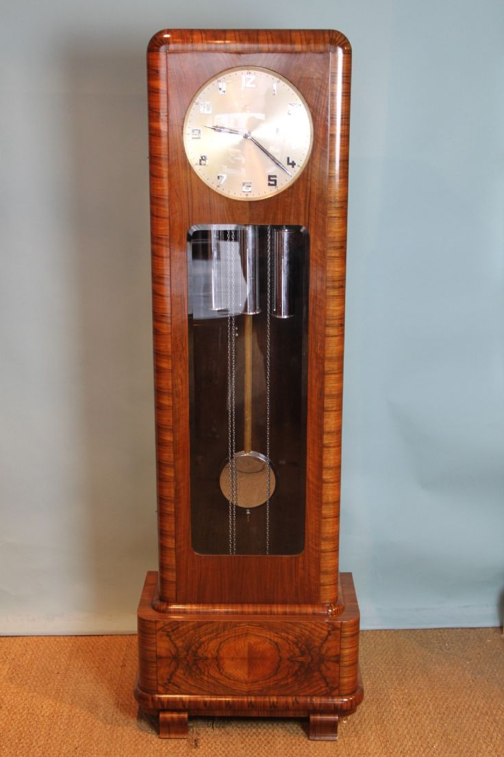 17 best images about art deco grandfather clocks on pinterest deco wall auction and radios - Wall hanging grandfather clock ...