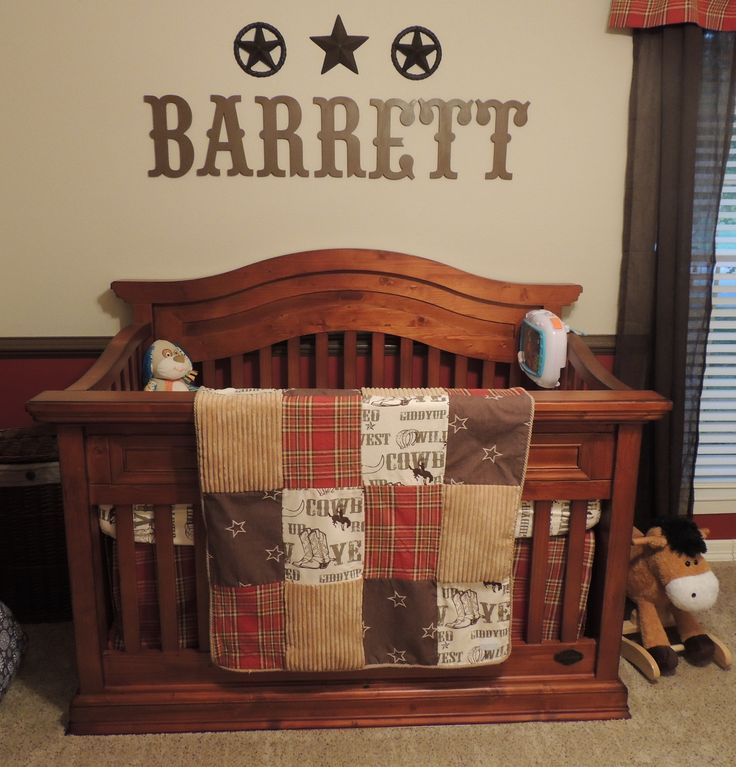 western baby room | Western Nursery ...with Eric's name of course