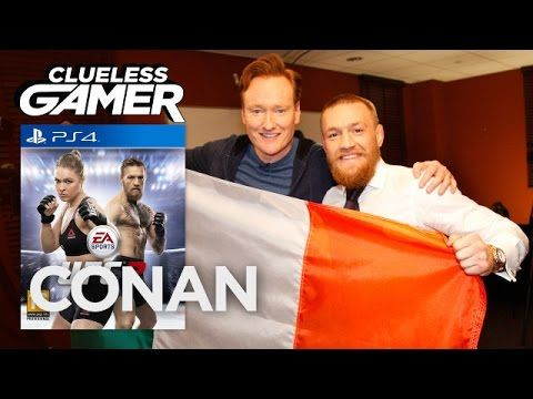 CONAN Highlight: Conan goes toe-to-toe with the UFC Featherweight Champion in EA Sports' latest MMA fighting game—and he's got the bruised face to prove it. ...