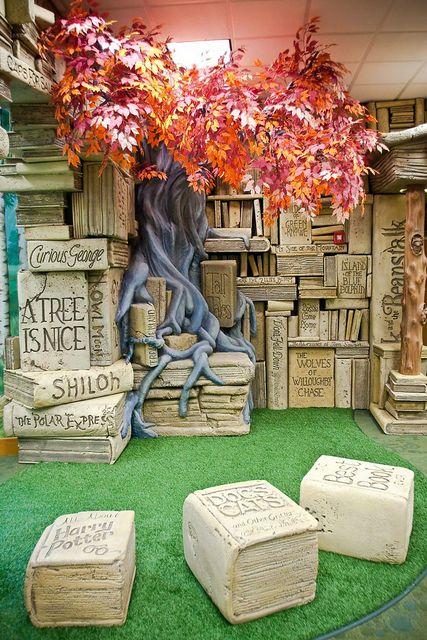 Brentwood Childrens Library-114 by CajunKev, via Flickr - Inspiration for a garden nook