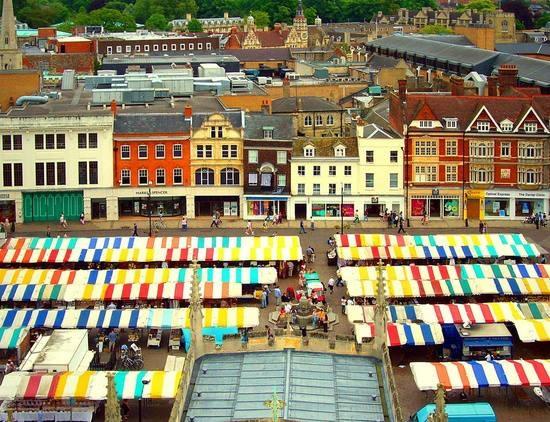 Wonderful colors of Cambridge Market, London