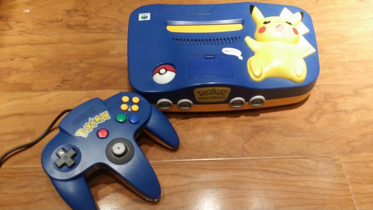 Pikachu pokemon Nintendo 64 system console n64 video game with controller - pinned by pin4etsy.com
