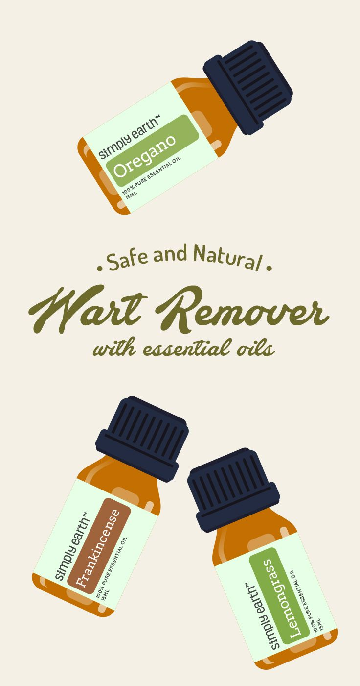 "Getting warts is not only a hassle, but there are hardly any natural options to remove them. Most current removal options are painful and full of dangerous chemicals. Have you ever had to burn or freeze off a wart? Or do a ""chemical peel"" for one? They aren't fun, and definitely aren't as safe as if you were to use essential oils. But have no fear! We have a natural wart removal remedy for you that is painless and safe!"