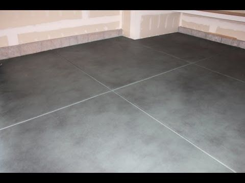 How to stain concrete floors newlook smartcolor on for How to clean stained concrete garage floors