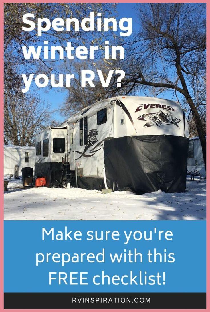 Free download preparation for winter rv living checklist