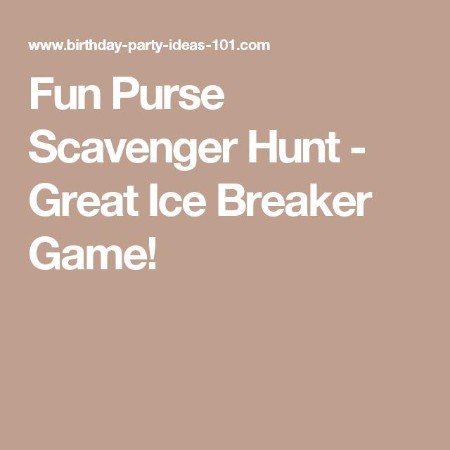 Fun Purse Scavenger Hunt - Great Ice Breaker Game!