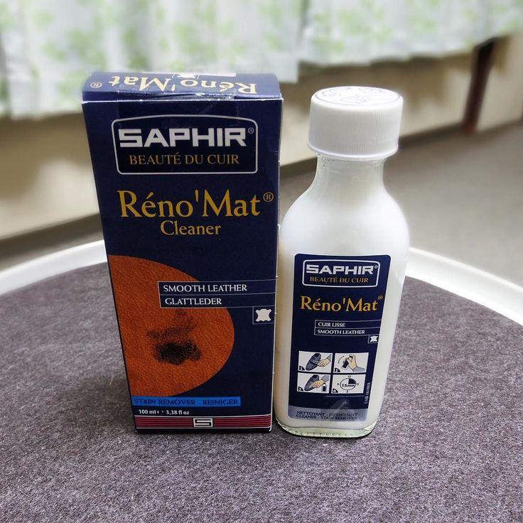Saphir Réno' Mat 靴用のクリーナーを補充 クリーナーの使用には賛否あるみたいですが私は使う派です ささっと拭けばさっぱりしたような気分になれます #saphir #renomat #saphirrenomat #サフィール #レノマット #shoecare #靴磨き #シューケア