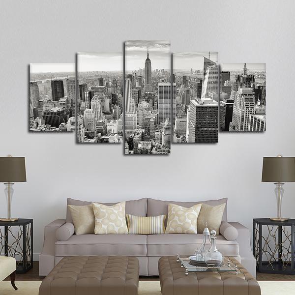 Massive Manhattan Skyline Multi Panel Canvas Wall Art Wall Canvas City Wall Art Canvas Wall Art