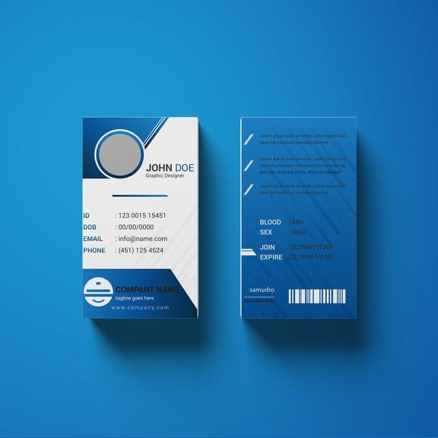 قالب بطاقة هوية الشركات الملونة Id Card Template Corporate Id Visiting Card Templates