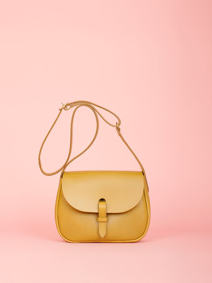Peggy - Olive Leather Bag, Mimi Berry SS16