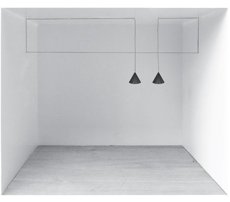 String Lights by Michael Anastassiades for Flos. The cables themselves became elements of art installation.