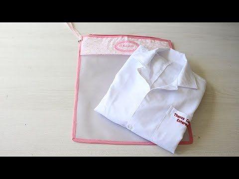 Bolsa para Jaleco com  vinil translúcido