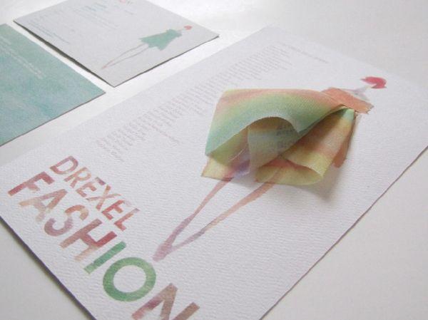 Drexel Fashion Show Invitation 2010 by Dounia Tamri-Loeper, via Behance