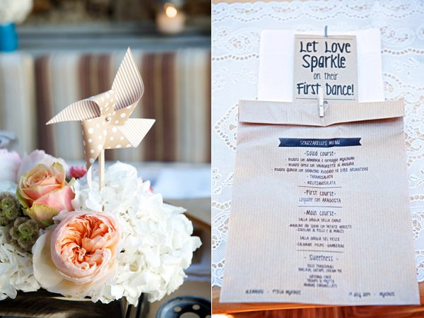 printed wedding menus - photo by Rossini Photography http://ruffledblog.com/breezy-destination-wedding-in-mykonos