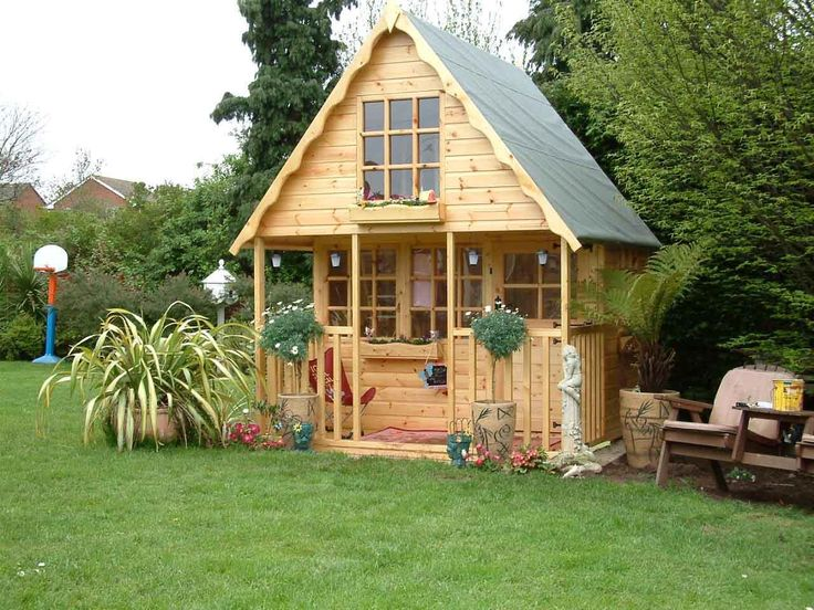 small wooden playhouse ideas for the house pinterest