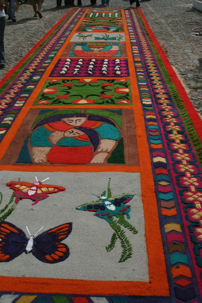 Alfombras for Semana Santa in Guatemala