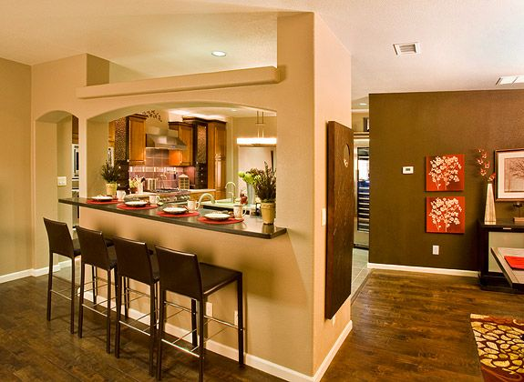 Kitchen Island Ideas With Bar Lalinda Kitchen/fr Pass-through | Modular Home Favorites