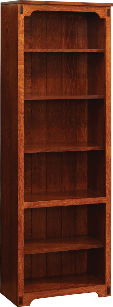 You'll save on every piece of furniture at Amish Outlet Store! We custom make every item, and you can get the Buckingham Bookshelf in Oak with any wood and stain.