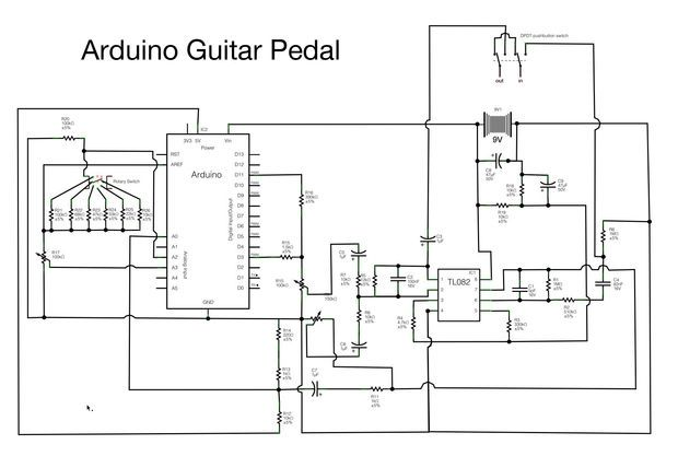 arduino guitar pedal electronic circuit guitar pedals. Black Bedroom Furniture Sets. Home Design Ideas