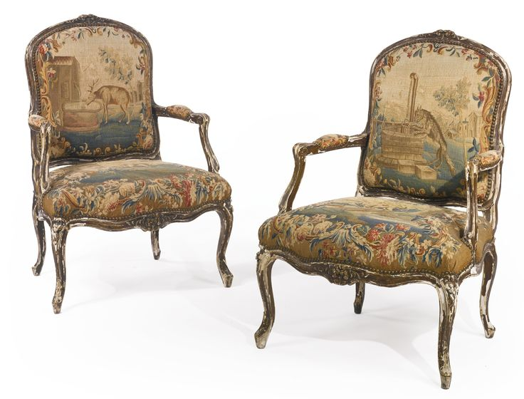 A pair of Louis XV carved and faux wood-painted fauteuils Mid-18th Century - 302 Best Things Past Images On Pinterest Salvaged Furniture