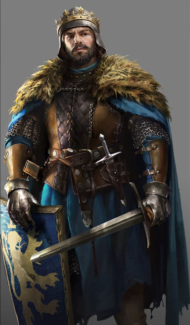 Kings Illustrations for Total War Battle , Lulu Zhang on ArtStation at https://www.artstation.com/artwork/XWevl