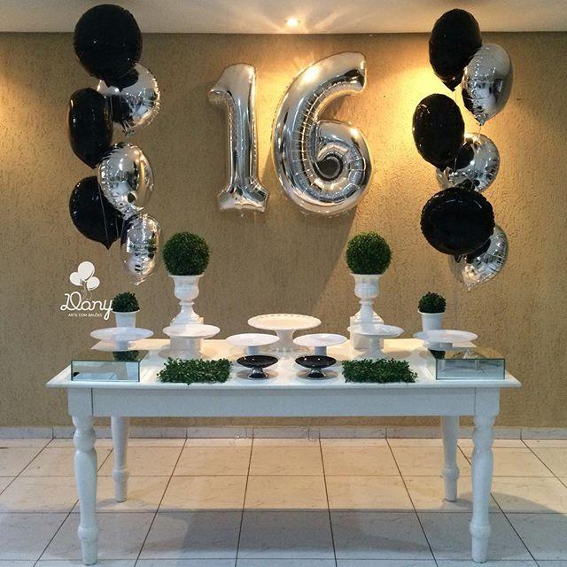 Resultado de imagem para imagens simples de aniversario decoraçao 16 anos