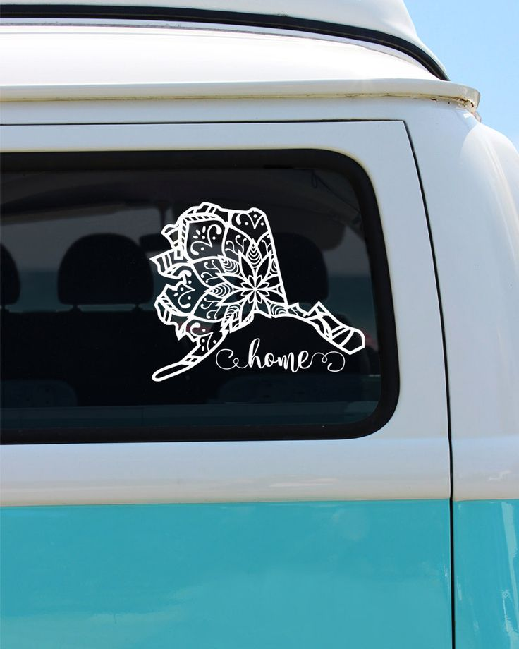 Alaska State Mandala Vinyl Decal Sticker - Car Sticker - Mandala Decal by…