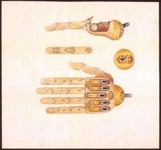 """""""Patent des Wilhelm Müller aus Stuttgart auf eine künstliche Hand"""", Landesarchiv Baden-Württemberg, Abt. Staatsarchiv Ludwigsburg, E 170 a_Bü 1002 / Patent des Wilhelm Müller aus Stuttgart auf eine künstliche Hand (1868)"""