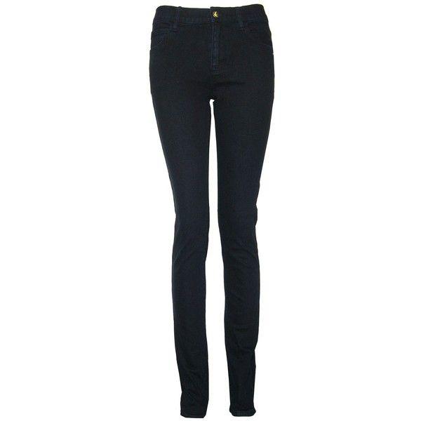 Monkee Genes Organic Classic Skinny Inky Black Black Jeans (740 ZAR) ❤ liked on Polyvore