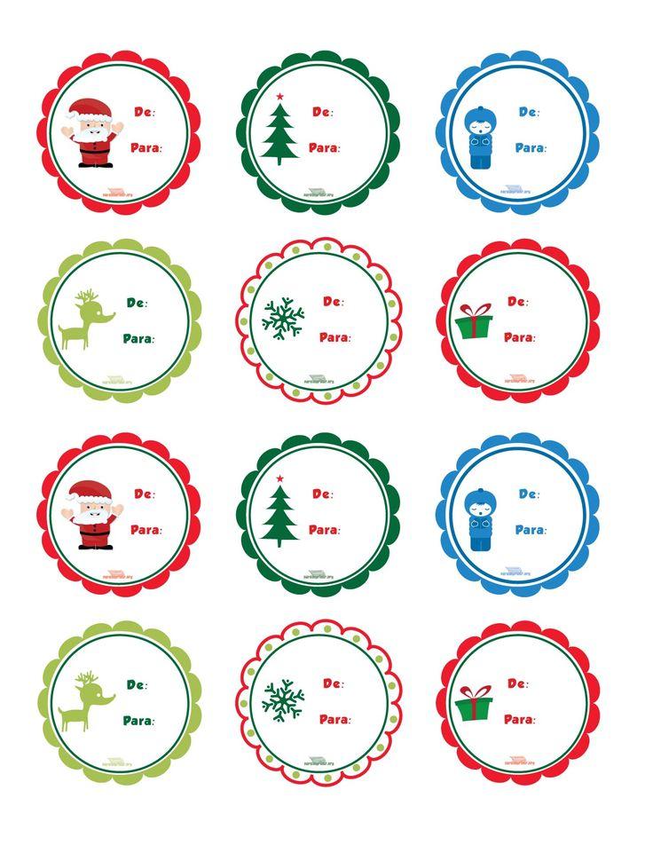 etiquetas navideas para imprimir y pegar en tus regalos camecom