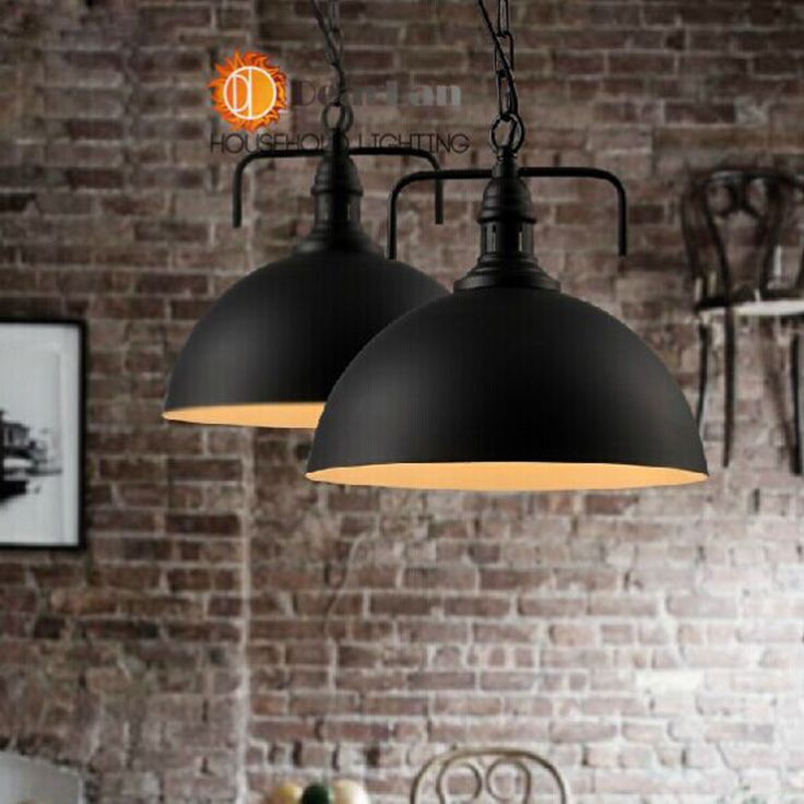 Black Iron Vintage Pendant Lamp ItemsEdison Hanging Suspensory Lights For Dining Rooms