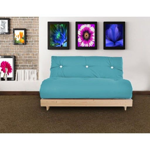 Blue 2 Seater Futon Sofabed, Wooden Base And Futon Mattress · Futon MattressFutonsBedroom  SetsNavy ...